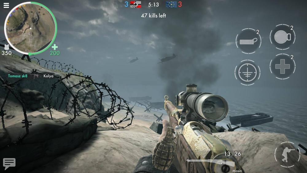 Hra na mobil World War Heroes