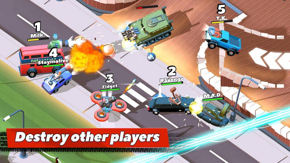 Hra na mobil Crash of Cars