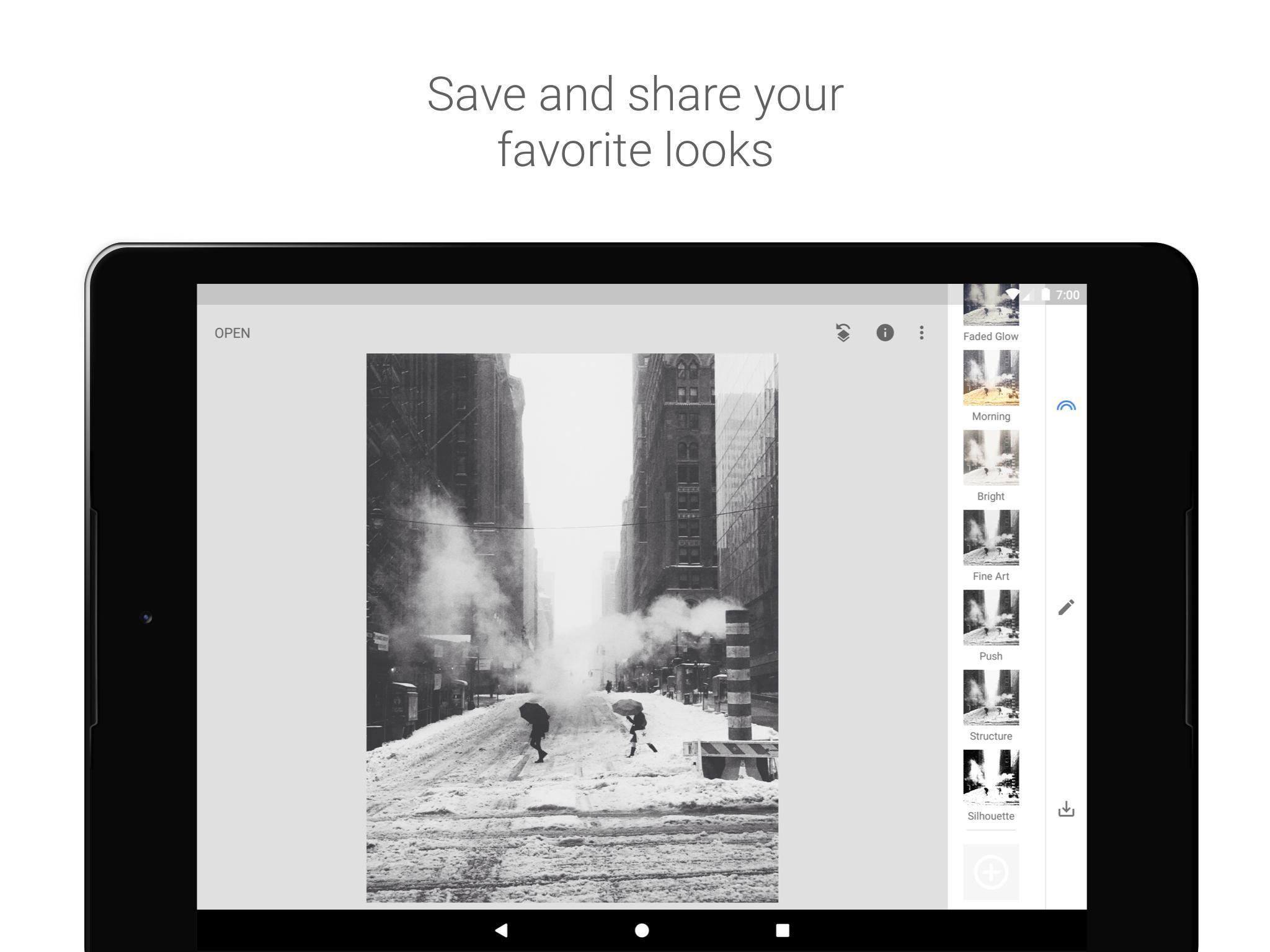 Aplikace na mobil Snapseed