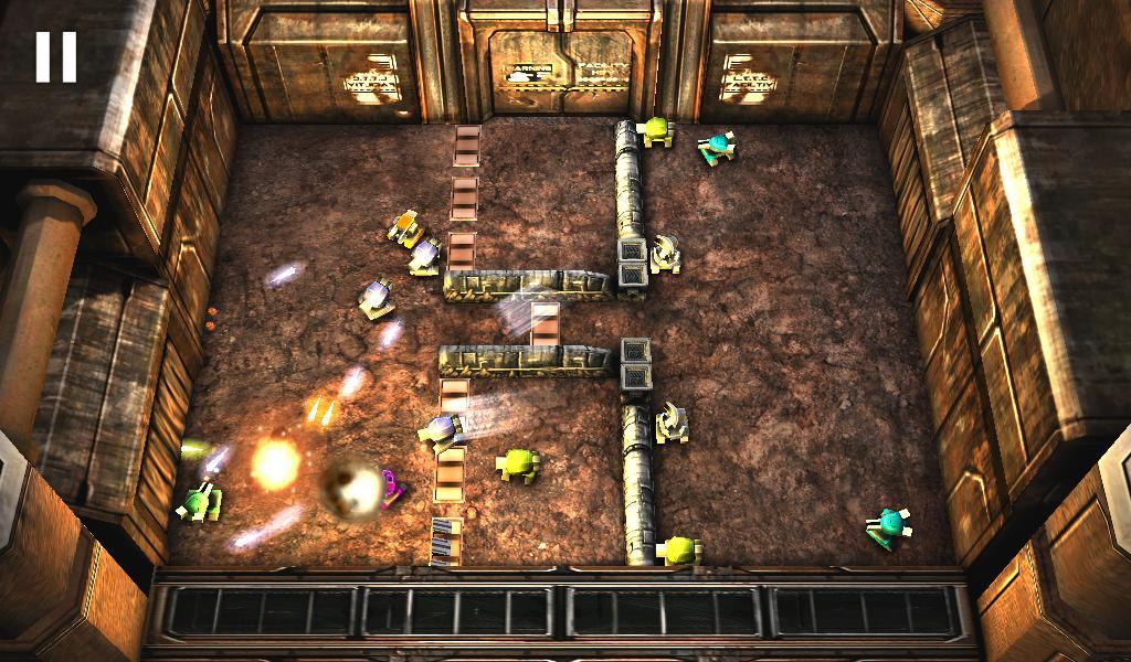 Hra na mobil Tank Hero: Laser Wars