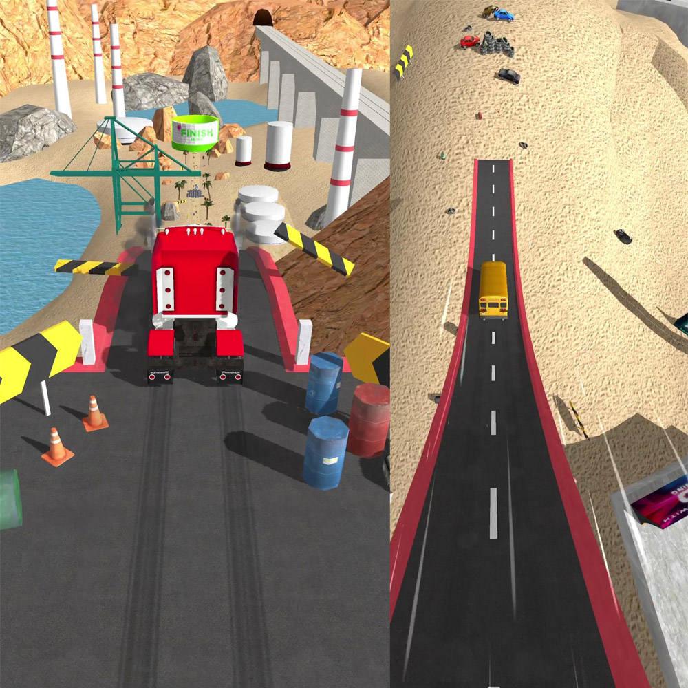 Hra na mobil Stunt Truck Jumping