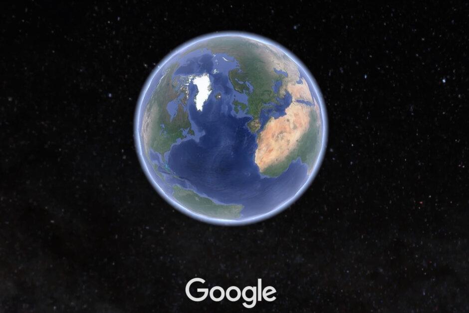Earth aplikace na mobil