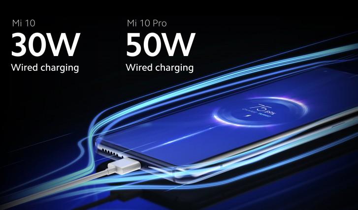 Xiaomi Mi 10 nabíjení