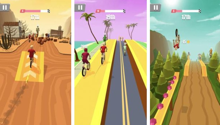 Hra na mobil Bike Rush