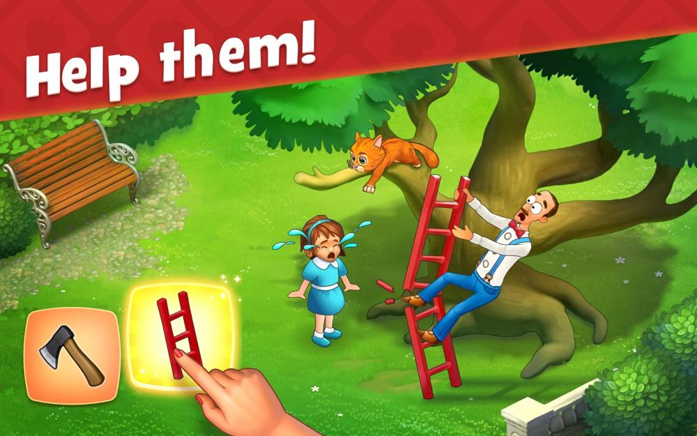 Hra na mobil Gardenscapes