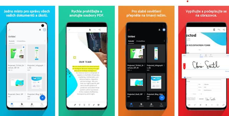 Aplikace Adobe Acrobat Reader