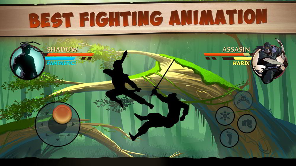 Hra na mobil Shadow Fight 2