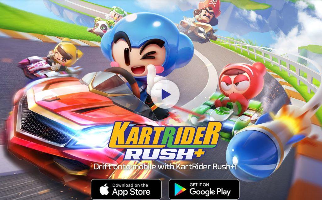 Hra na mobil KartRider Rush+
