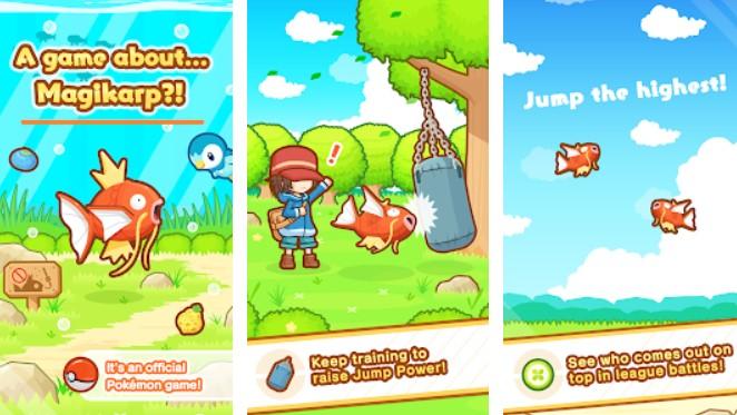 Hra na mobil Pokémon: Magikarp Jump
