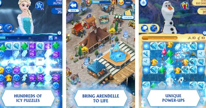 Hra na mobil Disney Frozen Free Fall