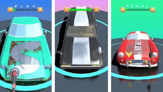 Hra na mobil Car Restoration 3D