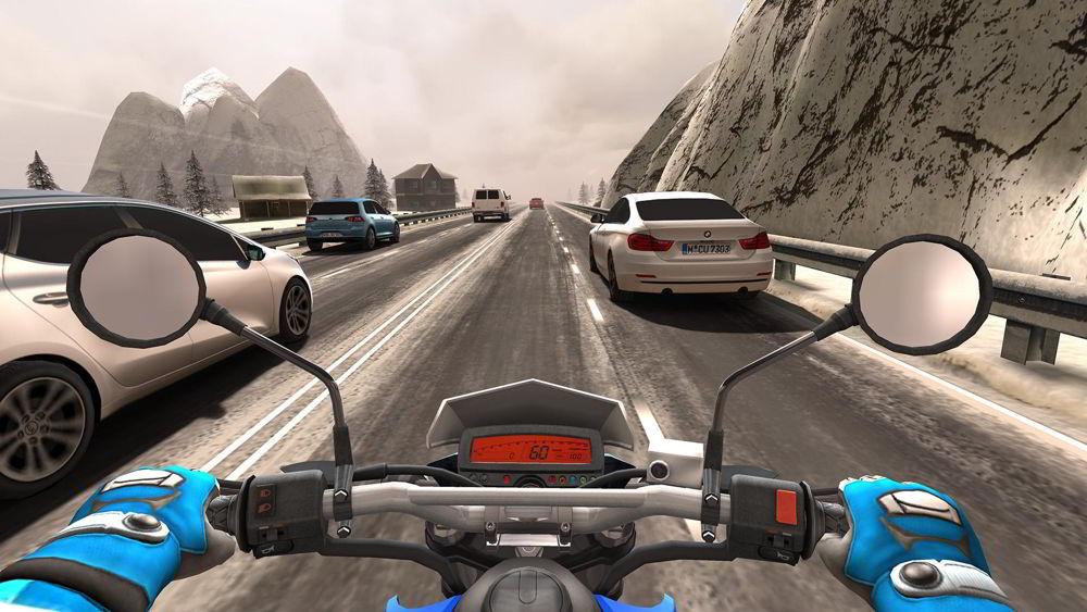 Hra na mobil Traffic Rider