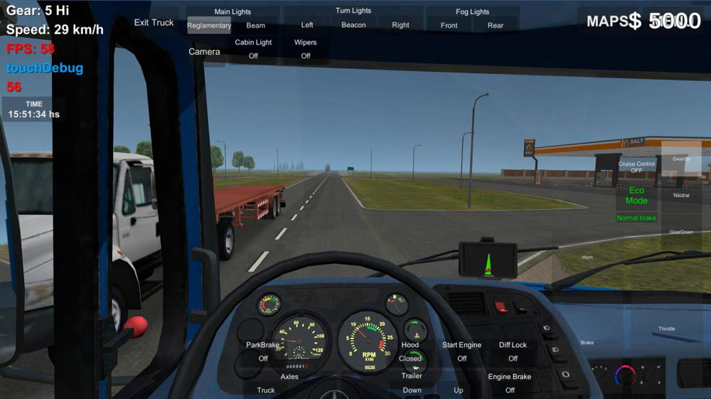Hra na mobil Grand Truck Simulator 2