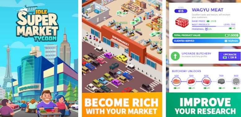 Hra na mobil Idle Supermarket Tycoon - Tiny Shop Game