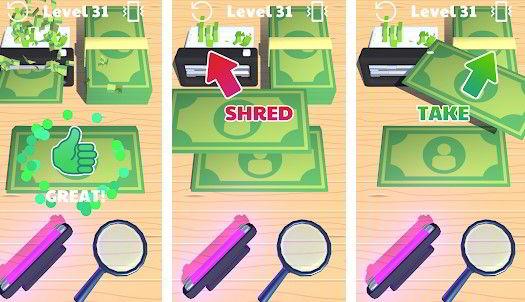 Hra na mobil Money Buster