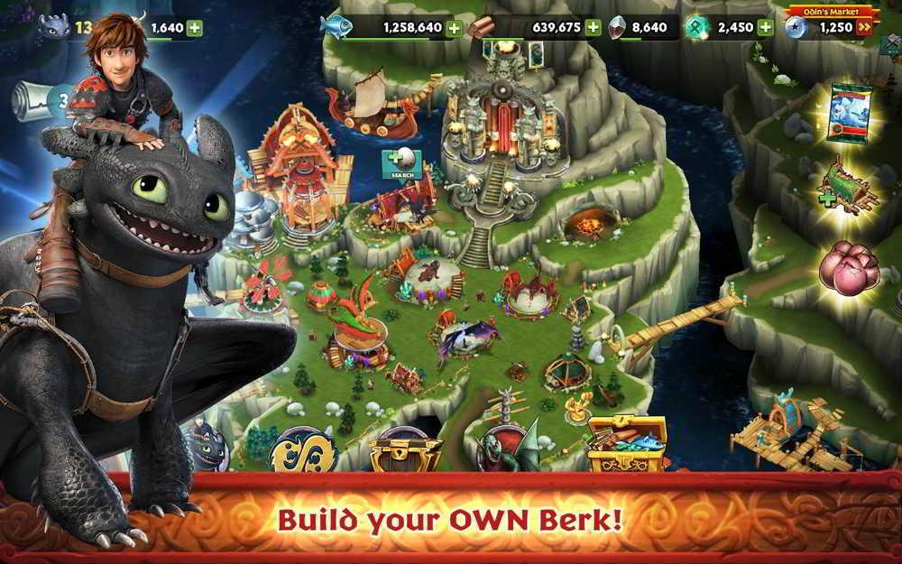 Hra Dragons: Rise of Berk