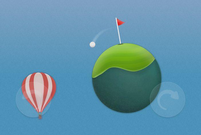 Hra Golf Skies