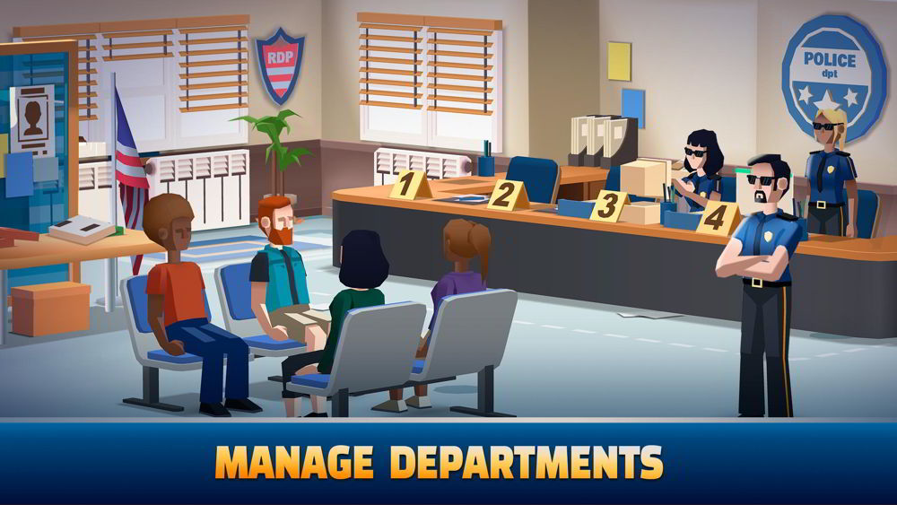Hra na mobil Idle Police Tycoon
