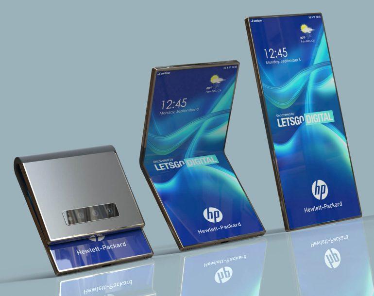 HP skládací telefon