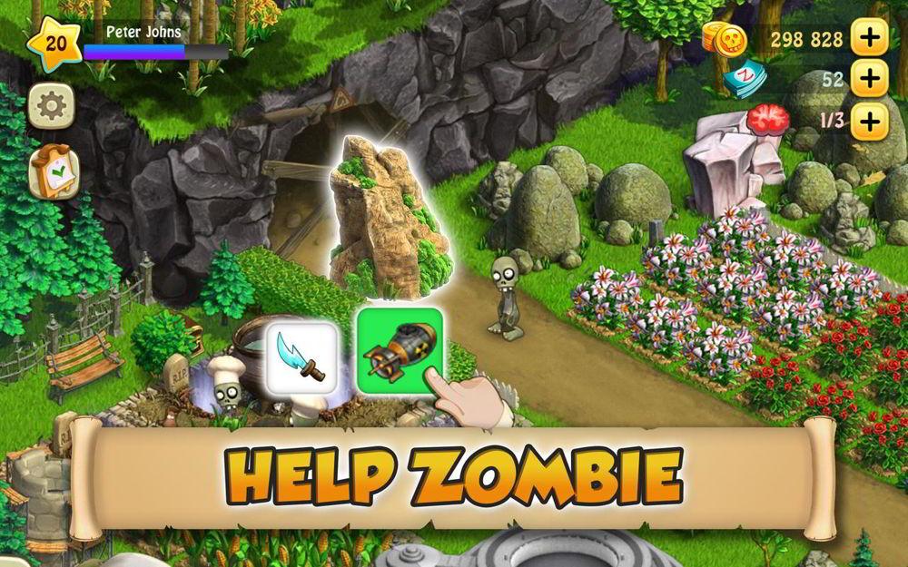 Hra na mobil Zombie Castaways