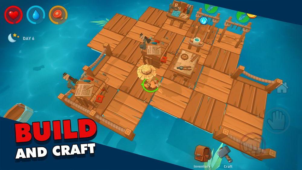 Hra na mobil Epic Raft