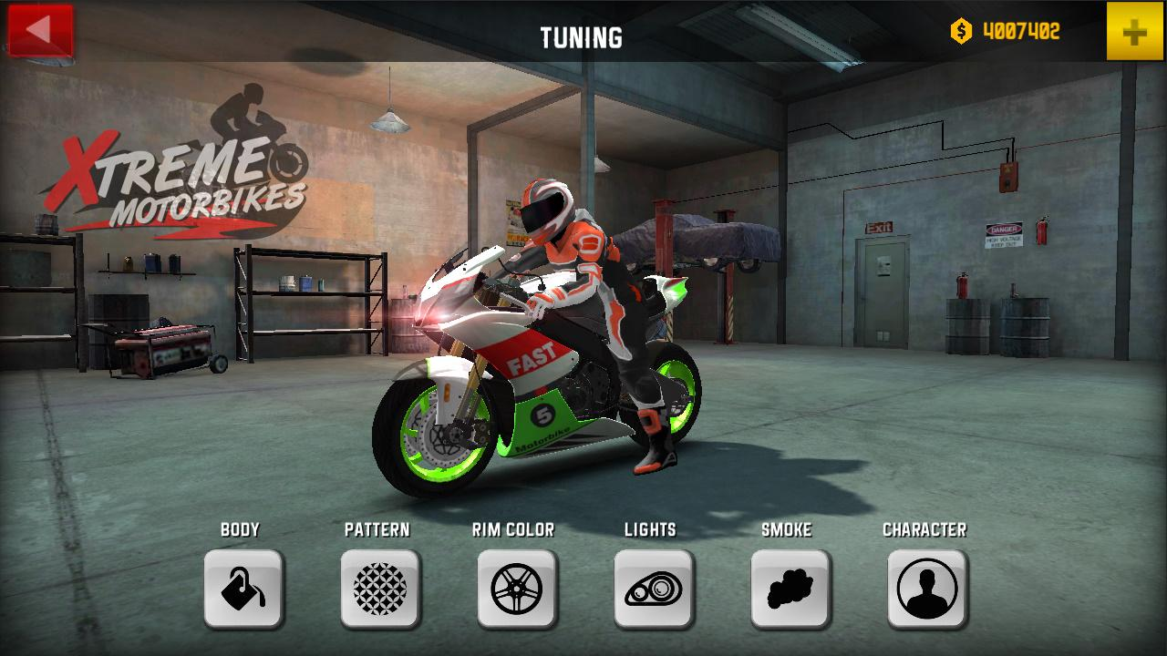 Hra na mobil Xtreme Motorbikes
