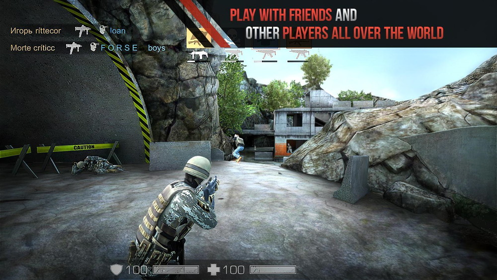 Hra na mobil Standoff Multiplayer
