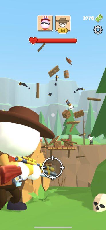Hra na mobil Western Sniper