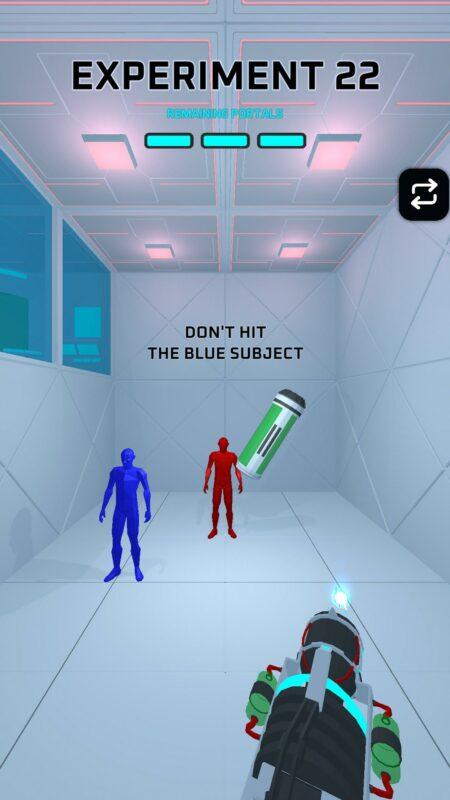 Hra na mobil Portals Experiment